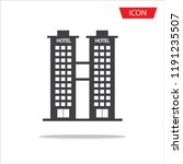 hotel icon vector isolated on...   Shutterstock .eps vector #1191235507
