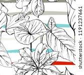 tropical  modern stripes motif. ...   Shutterstock .eps vector #1191237661