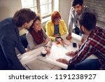young student architects... | Shutterstock . vector #1191238927