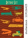 retro vehicle collection.... | Shutterstock .eps vector #119126425