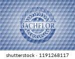 bachelor blue emblem or badge... | Shutterstock .eps vector #1191268117