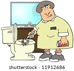 cleaning toilets | Shutterstock . vector #11912686