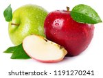 fresh red and green apples... | Shutterstock . vector #1191270241