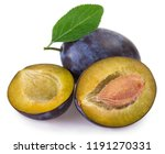 fresh plum isolated on white... | Shutterstock . vector #1191270331