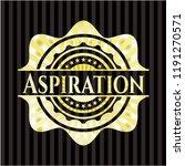 aspiration gold shiny badge | Shutterstock .eps vector #1191270571