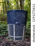 trash can in forest park | Shutterstock . vector #1191272611