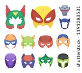 carnival mask cartoon icons in... | Shutterstock .eps vector #1191283531