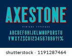 condensed 3d display font... | Shutterstock .eps vector #1191287464