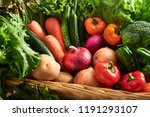 a collection of fresh and... | Shutterstock . vector #1191293107