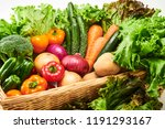 a collection of fresh and... | Shutterstock . vector #1191293167