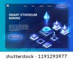 smart ethereum mining.... | Shutterstock .eps vector #1191293977