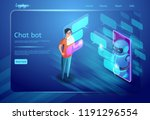 chat bot and communication... | Shutterstock .eps vector #1191296554