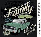 classic car community  car... | Shutterstock .eps vector #1191315121