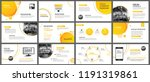 presentation and slide layout... | Shutterstock .eps vector #1191319861