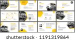 presentation and slide layout... | Shutterstock .eps vector #1191319864