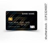 credit card design. mix blue... | Shutterstock .eps vector #1191324007