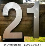 the number   numeral twenty one ... | Shutterstock . vector #1191324154