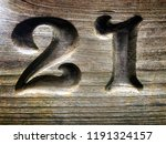 the number   numeral twenty one ...   Shutterstock . vector #1191324157