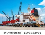 row of steel coils on the... | Shutterstock . vector #1191333991