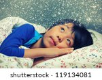 cute young boy dreaming of a... | Shutterstock . vector #119134081