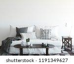 mock up wall interior.... | Shutterstock . vector #1191349627
