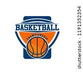 basketball logo design   Shutterstock .eps vector #1191352354