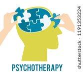 mental health concept.... | Shutterstock .eps vector #1191353224