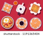 set of chinese food. chinese... | Shutterstock .eps vector #1191365404
