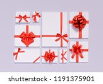 gift box flat lay collection ... | Shutterstock . vector #1191375901
