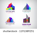 vector set of colorful real... | Shutterstock .eps vector #1191389251