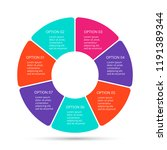 vector circle infographic.... | Shutterstock .eps vector #1191389344