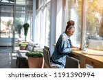 side view of african woman in... | Shutterstock . vector #1191390994