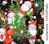 Cute Santa Claus Seamless...