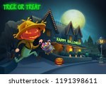 happy halloween background  ... | Shutterstock .eps vector #1191398611