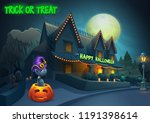 happy halloween background  ... | Shutterstock .eps vector #1191398614