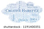 creative hairstyle word cloud ... | Shutterstock . vector #1191400351