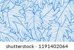 foliage seamless pattern ... | Shutterstock .eps vector #1191402064