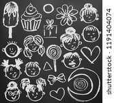 set elements for your... | Shutterstock .eps vector #1191404074