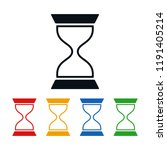 flat hourglass on white... | Shutterstock .eps vector #1191405214