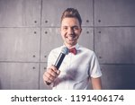 a young attractive funny joyful ... | Shutterstock . vector #1191406174