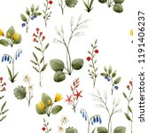 watercolor floral pattern ... | Shutterstock . vector #1191406237