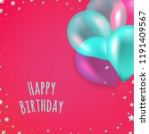birthday card  with gradient... | Shutterstock .eps vector #1191409567