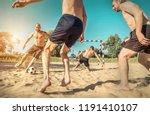 happy young people in active...   Shutterstock . vector #1191410107