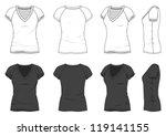 blank women's t shirt | Shutterstock .eps vector #119141155
