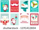 set of christmas banner ... | Shutterstock .eps vector #1191412834