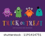 halloween little monsters.... | Shutterstock .eps vector #1191414751