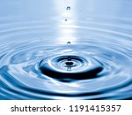 close up drop of water on blue... | Shutterstock . vector #1191415357