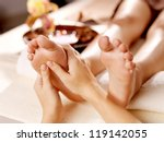 Massage Of Human Foot In Spa...