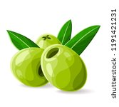 olives green pitted with a... | Shutterstock .eps vector #1191421231