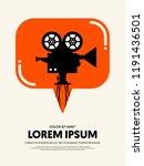movie and film festival poster... | Shutterstock .eps vector #1191436501